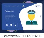 quality one page policeman... | Shutterstock .eps vector #1117782611