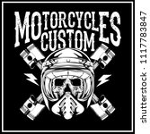 motorcycles custom bike logo... | Shutterstock .eps vector #1117783847