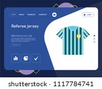 quality one page referee jersey ... | Shutterstock .eps vector #1117784741