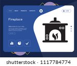 quality one page fireplace... | Shutterstock .eps vector #1117784774