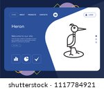 quality one page heron website... | Shutterstock .eps vector #1117784921