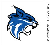 Blue Lynx Mascot Logo...