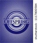 offspring emblem with denim...   Shutterstock .eps vector #1117800584