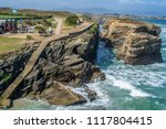 cliffs of the coast of ribadeo  ... | Shutterstock . vector #1117804415