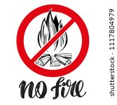 prohibiting sign  no fire... | Shutterstock .eps vector #1117804979