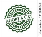 green adopt a cat rubber grunge ... | Shutterstock .eps vector #1117810241