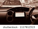 a beautiful dashboard of a car... | Shutterstock . vector #1117812515