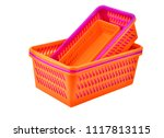 color plastic basket  isolated... | Shutterstock . vector #1117813115