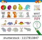 cartoon illustration of finding ... | Shutterstock .eps vector #1117813847