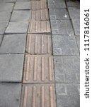 old concrete block cracking on... | Shutterstock . vector #1117816061