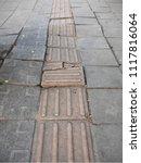 old concrete block cracking on... | Shutterstock . vector #1117816064