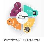 infographics of freight... | Shutterstock .eps vector #1117817981
