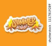 vector summer kids camp cartoon ... | Shutterstock .eps vector #1117819289