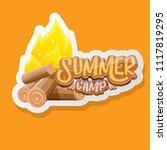vector summer kids camp cartoon ... | Shutterstock .eps vector #1117819295