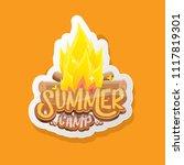 vector summer kids camp cartoon ... | Shutterstock .eps vector #1117819301