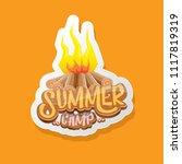 vector summer kids camp cartoon ... | Shutterstock .eps vector #1117819319