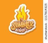 vector summer kids camp cartoon ... | Shutterstock .eps vector #1117819325