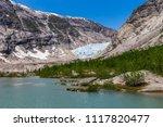 nigardsbreen. a glacier arm of... | Shutterstock . vector #1117820477