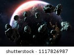 meteor shower and earth  last... | Shutterstock . vector #1117826987