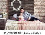 dad and his daughter are lying...   Shutterstock . vector #1117831037