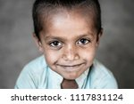 a sick young child suffering... | Shutterstock . vector #1117831124