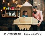 rocket launch concept. kid... | Shutterstock . vector #1117831919