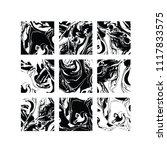 set of vector black and white... | Shutterstock .eps vector #1117833575