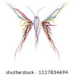 colorful abstract butterfly | Shutterstock .eps vector #1117834694