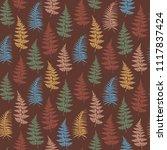 fern frond herbs  tropical... | Shutterstock .eps vector #1117837424