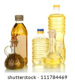 Olive And Sunflower Oil In The...