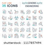 set of vector line icons  sign... | Shutterstock .eps vector #1117857494