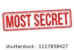 most secret grunge rubber stamp ... | Shutterstock .eps vector #1117858427
