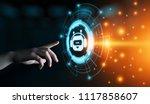 chat bot robot online chatting... | Shutterstock . vector #1117858607