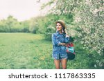 summer lifestyle portrait of... | Shutterstock . vector #1117863335