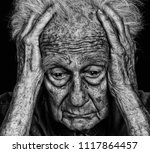 image of senior man with deep... | Shutterstock . vector #1117864457