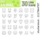 animal thin line icon set ...   Shutterstock .eps vector #1117864787