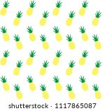 pineapple pine apple vector... | Shutterstock .eps vector #1117865087