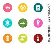 eco procedure icons set. flat... | Shutterstock .eps vector #1117866077