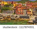 typical colorful fishing houses ... | Shutterstock . vector #1117874531