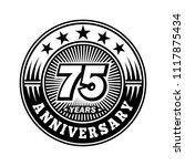 75 years anniversary.... | Shutterstock .eps vector #1117875434