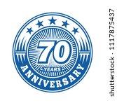 70 years anniversary.... | Shutterstock .eps vector #1117875437
