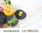 chocolate brownie cookies with... | Shutterstock . vector #1117882151