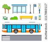 municipal transport vector flat ... | Shutterstock .eps vector #1117883117