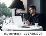 adult serious man has business...   Shutterstock . vector #1117883729