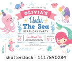 kids birthday party under the... | Shutterstock .eps vector #1117890284