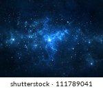 night sky with stars and nebula | Shutterstock . vector #111789041