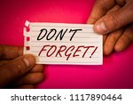 word writing text do not forget ... | Shutterstock . vector #1117890464