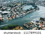 high angle view of river and... | Shutterstock . vector #1117899101