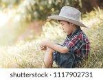 cute portrait asian little boy... | Shutterstock . vector #1117902731