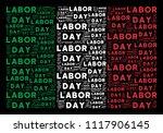 italian state flag flat collage ... | Shutterstock .eps vector #1117906145